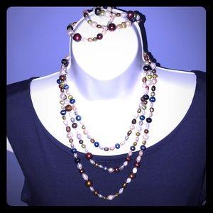 Jewelry - Multi colored pearl strand